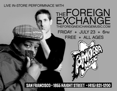 Instore & Mini-Performance with The Foreign Exchange at Amoeba Music, San Francisco CA | Jul 23, 2010