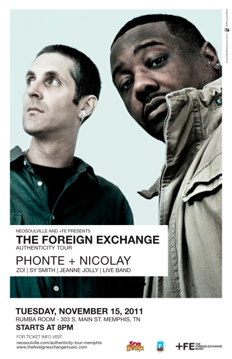 The Foreign Exchange S Authenticity Tour At Rumba Room