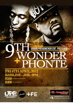 Phonte & 9th Wonder at Bassline, Johannesburg SA | April 6, 2012