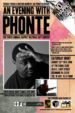 Phonte at Happily Natural Day, Richmond VA | Aug 25, 2012