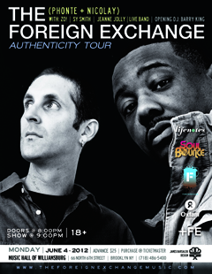 The Foreign Exchange at Music Hall of Williamsburg, Brooklyn NY | June 4, 2012