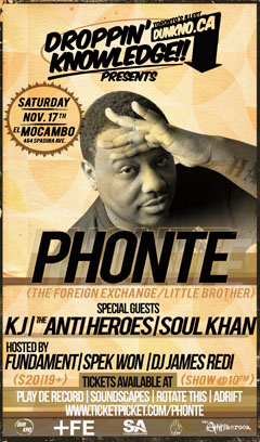 Phonte at El Mocambo in Toronto ON | Nov 17 2012