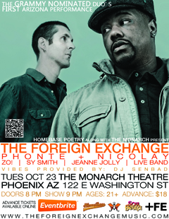 The Foreign Exchange at Monarch Theatre, Phoenix AZ | Oct 23 2012