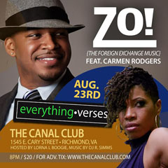 Zo! feat. Carmen Rodgers at The Canal Club, Richmond VA | Aug 23 2014