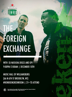 The Foreign Exchange at Music Hall of Williamsburg, Brooklyn NY | Dec 10, 2014
