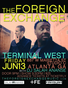 The Foreign Exchange at Terminal West, Atlanta GA | Jun 13, 2014