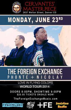 The Foreign Exchange at Cervantes' Masterpiece, Denver CO | Jun 23 2014