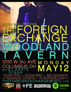 The Foreign Exchange at Woodlands Tavern, Columbus OH | May 12 2014