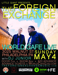 The Foreign Exchange at World Cafe Live, Philadelphia PA | May 4 2014