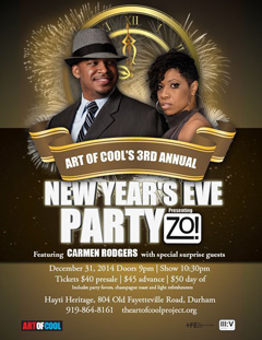 NYE with Zo! at Hayti Heritage, Durham NC | Dec 31, 2014