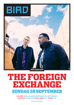 The Foreign Exchange at BIRD, Rotterdam NL | Sept 28, 2014