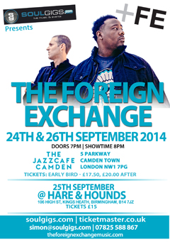 The Foreign Exchange at Jazz Cafe, London UK | Sept 24, 2014
