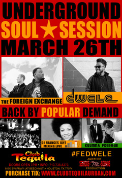 The Foreign Exchange at Club Tequila, Houston TX | Mar 26, 2015