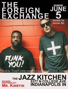 The Foreign Exchange at The Jazz Kitchen, Indianapolis IN   Jun 5, 2016