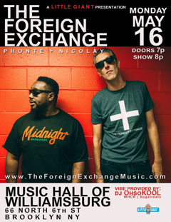 The Foreign Exchange at Music Hall Of Williamsburg, Brooklyn NY | May 16, 2016