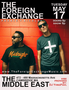 The Foreign Exchange at The Middle East, Cambridge MA | May 17, 2016