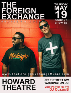 The Foreign Exchange at The Howard Theatre, Washington DC | May 19, 2016