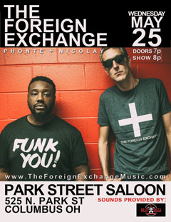 The Foreign Exchange at Park Street Saloon, Columbus OH | May 25, 2016