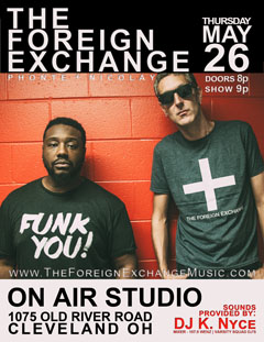 The Foreign Exchange at On Air Studio, Cleveland OH | May 26, 2016