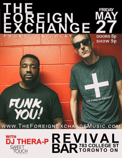 The Foreign Exchange at Revival Bar, Toronto ON | May 27, 2016