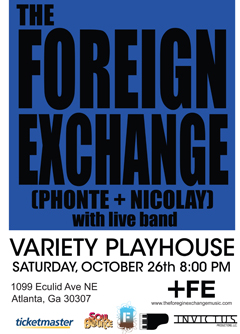 The Foreign Exchange at Variety Playhouse, Atlanta GA | Oct 26 2013