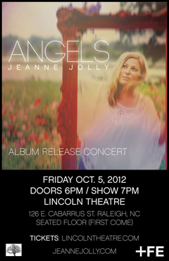 Jeanne Jolly's ''Angels'' album release concert at Lincoln Theater, Raleigh NC | Oct 5, 2012