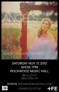 Jeanne Jolly at Rockwood Music Hall, New York NY | Nov 17 2012