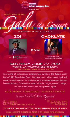 Zo! & Choklate at Tucson Urban League 42nd Annual Gala | Jun 22, 2013