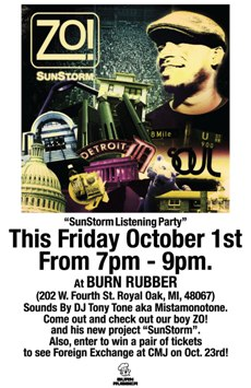 SunStorm Listening Party & In-store at Burn Rubber Sneaker Boutique, Royal Oak MI | Oct 1 2010