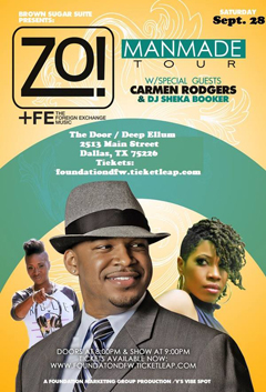 Zo! feat. Carmen Rodgers at The Door, Dallas TX | Sep 28 2013
