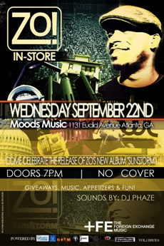 Zo! in-store at Moods Music, Atlanta GA | Sept 22, 2010