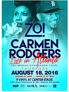 Zo! + Carmen Rodgers at Vinyl, Atlanta GA | Aug 18, 2016