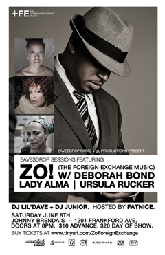Zo! feat. Deborah Bond, Lady Alma, Ursula Rucker at Johnny Brenda's, Philadelphia PA | Jun 8, 2013