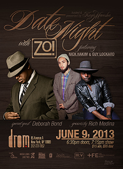 Zo! feat Deborah Bond at DROM, New York NY | Sun Jun 9, 2013