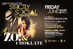 Zo! & Choklate at Bootleg Bar, Los Angeles CA | Jun 21, 2013