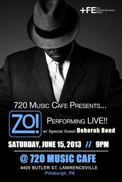 Zo! feat. Deborah Bond at 720 Music Cafe, Pittsburgh PA | Jun 15 2013