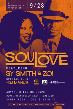 Zo! & Sy Smith at Rumba Room, Memphis TN | Sept 28, 2012
